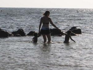 Grandma Susie and the boys - Poipu Beach