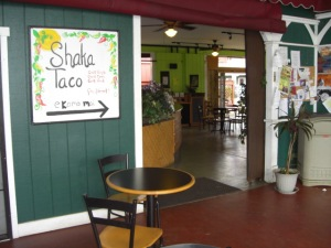 Open patio at Shaka Taco's
